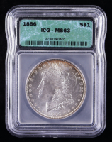 1886 Morgan Silver Dollar (ICG MS63) (Toned) at PristineAuction.com