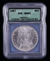 1887 Morgan Silver Dollar (ICG MS63) at PristineAuction.com