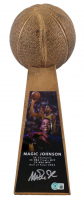 """Magic Johnson Signed Hall of Fame 14"""" Championship Basketball Trophy (Beckett Hologram) at PristineAuction.com"""