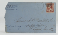 1884 Hand-Written Envelope With Antique US Postal History Stamp at PristineAuction.com
