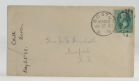 1883 Hand-Written Envelope With Antique US Postal History Stamp at PristineAuction.com