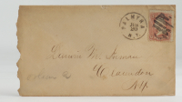 Late 1800s Hand-Written Envelope With Antique US Postal History Stamp at PristineAuction.com