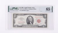 1963 $2 Red Seal Legal Tender Bank Note (PMG Gem Uncirculated 65 EPQ) at PristineAuction.com
