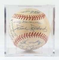 1958 Orioles Baseball Team-Signed by (25) with Brooks Robinson, Dick Williams with Display Case (Beckett LOA & Marshall LOA) at PristineAuction.com