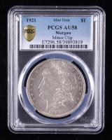 Mint Error - 1921 Morgan Silver Dollar, Minor Clip (PCGS AU58) at PristineAuction.com
