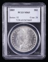 1885 Morgan Silver Dollar (PCGS MS63) at PristineAuction.com