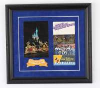 "Disneyland ""Main Street Electrical Parade"" 13x13 Custom Framed Display with Vintage Original Disneyland Cast Member Uniform Patch, Booklet & Souvenir Postcard (See Description) at PristineAuction.com"