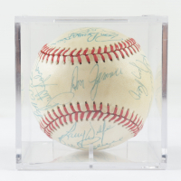 1979 Red Sox OAL Baseball Team-Signed by (25) with Carlton Fisk, Carl Yastrzemski, Dennis Eckersley with Display Case (Beckett LOA & Marshall LOA) at PristineAuction.com