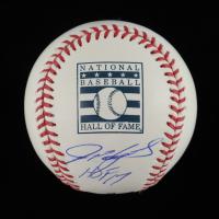 "Ivan Rodriguez Signed Hall of Fame Logo OML Baseball Inscribed ""HOF 17"" (Beckett COA) at PristineAuction.com"