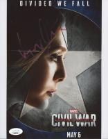 """Elizabeth Olsen Signed """"Captain America: Civil War"""" 8x10 Photo (JSA Hologram) at PristineAuction.com"""