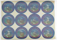 Dwight Gooden Uncut Sheet of (12) 1986 Sportflics Magic Motion Lentricular Discs (See Description) at PristineAuction.com