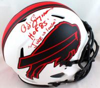 "O. J. Simpson Signed Bills Full-Size Authentic On-Field Lunar Eclipse Alternate Speed Helmet Inscribed ""HOF 85"" & ""Juice Is Loose"" (JSA Hologram) at PristineAuction.com"