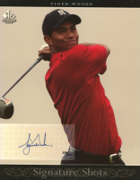 Tiger Woods 2005 SP Signature Shots Portrait 8 x 10 #1 Red Shirt #056/100 at PristineAuction.com