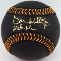 "Don Mattingly Signed OML Black Leather Baseball Inscribed ""Hitman"" (JSA Hologram) at PristineAuction.com"