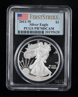 2011-W American Silver Eagle $1 One Dollar Coin - First Strike (PCGS PR70 Deep Cameo) at PristineAuction.com