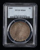 1885 Morgan Silver Dollar (PCGS MS64) (Toned) at PristineAuction.com