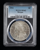 1921 Morgan Silver Dollar (PCGS MS63) at PristineAuction.com