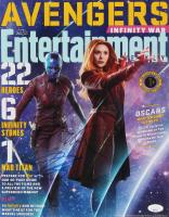 """Elizabeth Olsen & Karen Gillan Signed """"Avengers"""" 11x14 Photo (JSA Hologram) at PristineAuction.com"""