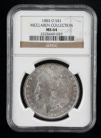 1883-O Morgan Silver Dollar - McClaren Collection (NGC MS64) at PristineAuction.com