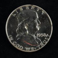 1958 Franklin Silver Half Dollar at PristineAuction.com