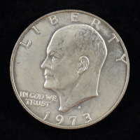 """1973-S $1 One Dollar Eisenhower """"Ike"""" Silver Coin at PristineAuction.com"""