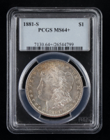 1881-S Morgan Silver Dollar (PCGS MS64+) (Toned) at PristineAuction.com