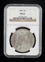 1889 Morgan Silver Dollar (NGC MS63) at PristineAuction.com