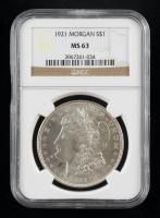 1921 Morgan Silver Dollar (NGC MS63) at PristineAuction.com