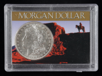 1921-S Morgan Silver Dollar With Display Case at PristineAuction.com
