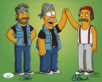 """Cheech Marin & Tommy Chong Signed """"The Simpsons"""" 8x10 Photo (JSA COA) at PristineAuction.com"""