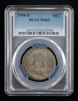 1958-D Franklin Silver Half Dollar (PCGS MS65) (Toned) at PristineAuction.com