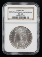 1883-O Morgan Silver Dollar - Great Montana Collection (NGC MS63) at PristineAuction.com