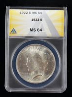 1922 Peace Silver Dollar (ANACS MS64) at PristineAuction.com