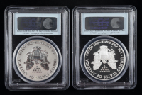 2012-S American Silver Eagle $1 One Dollar Coin Proof & Reverse Proof Coin Set - 75th Anniversary, First Strike (PCGS PR69 DCAM) at PristineAuction.com