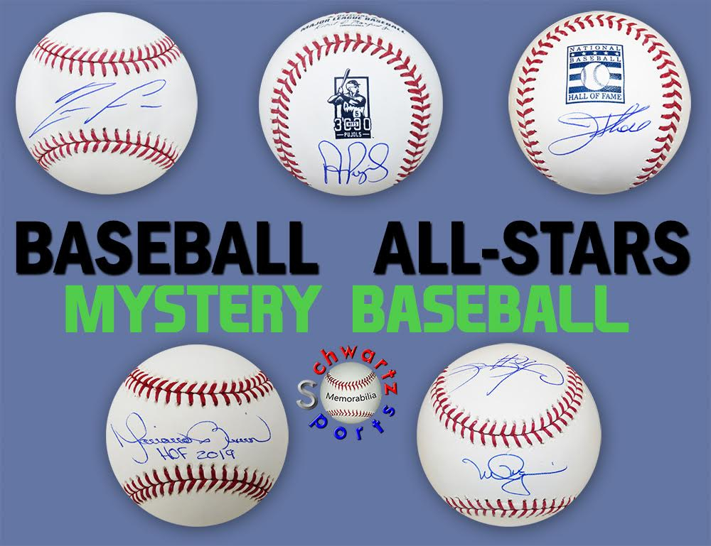 Schwartz Sports Baseball ALL-STARS Signed Baseball Mystery Box - Series 2 (Limited to 100) (ALL BASEBALLS ARE OF MLB ALL STARS) at PristineAuction.com