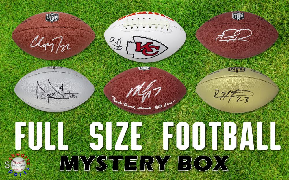Schwartz Sports Full-Size Football Mystery Box - Series 27 (Limited to 150) at PristineAuction.com