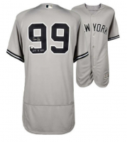 """Aaron Judge Signed Yankees Jersey Inscribed """"2017 AL ROY"""" (Fanatics Hologram) at PristineAuction.com"""