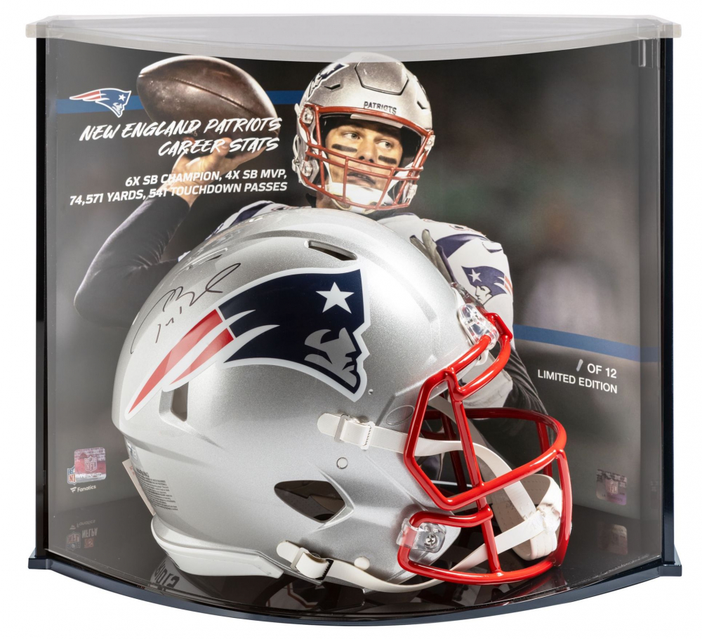 Tom Brady Signed Patriots Full-Size Authentic On-Field Speed Helmet with LE Display Case (Fanatics Hologram) at PristineAuction.com