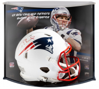 Tom Brady Signed LE Patriots Full-Size Authentic On-Field Matte White Speed Helmet with Display Case (Fanatics Hologram) at PristineAuction.com