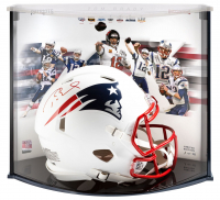 Tom Brady Signed Patriots Full-Size Authentic On-Field Matte White Speed Helmet with LE Display Case (Fanatics Hologram) at PristineAuction.com