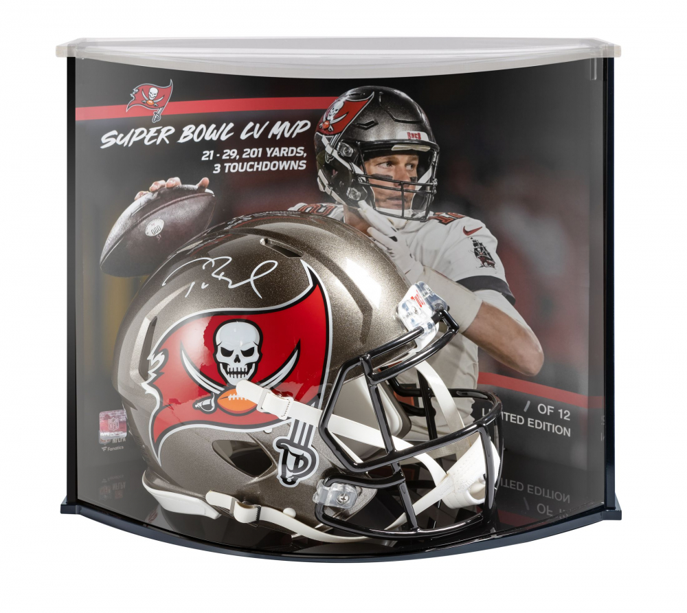 Tom Brady Signed LE Buccaneers Full-Size Authentic On-Field Speed Helmet with Display Case (Fanatics Hologram) at PristineAuction.com