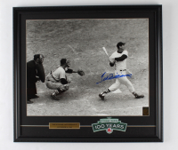 """Ted Williams Signed """"Ted Williams Last Home Run"""" Red Sox 20x23 Custom Framed Photo Display With Fenway Park Cloth Patch (Williams COA) at PristineAuction.com"""