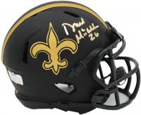 Deuce McAllister Signed Saints Eclipse Alternate Speed Mini Helmet (Radtke COA) at PristineAuction.com