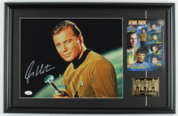 "William Shatner Signed ""Star Trek"" 15x23 Custom Framed Photo Display with 23 KT Gold Card (JSA COA) at PristineAuction.com"
