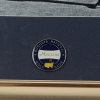Arnold Palmer 13x16 Custom Framed Photo Display with Masters Pin at PristineAuction.com