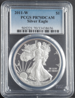 2011-W American Silver Eagle $1 One Dollar Coin (PCGS PR70 Deep Cameo) at PristineAuction.com