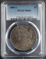 1880-S Morgan Silver Dollar (PCGS MS63) (Toned) at PristineAuction.com
