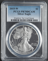 2015-W American Silver Eagle $1 One Dollar Coin (PCGS PR70 Deep Cameo) at PristineAuction.com