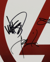 """Linkin Park """"Minutes to Midnight"""" 13x27 Poster Band-Signed by (6) with Chester Bennington, Rob Bourdon, Brad Delson, Mike Shinoda, Dave Farrell, Joe Hahn (JSA LOA) at PristineAuction.com"""