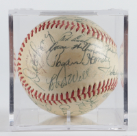 1958 Cubs Baseball Team-Signed by (30) with Rogers Hornsby with Display Case (Beckett LOA & Marshall LOA) at PristineAuction.com